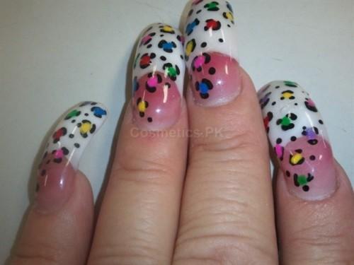 Animal Print Nail Art Design For Long Nails