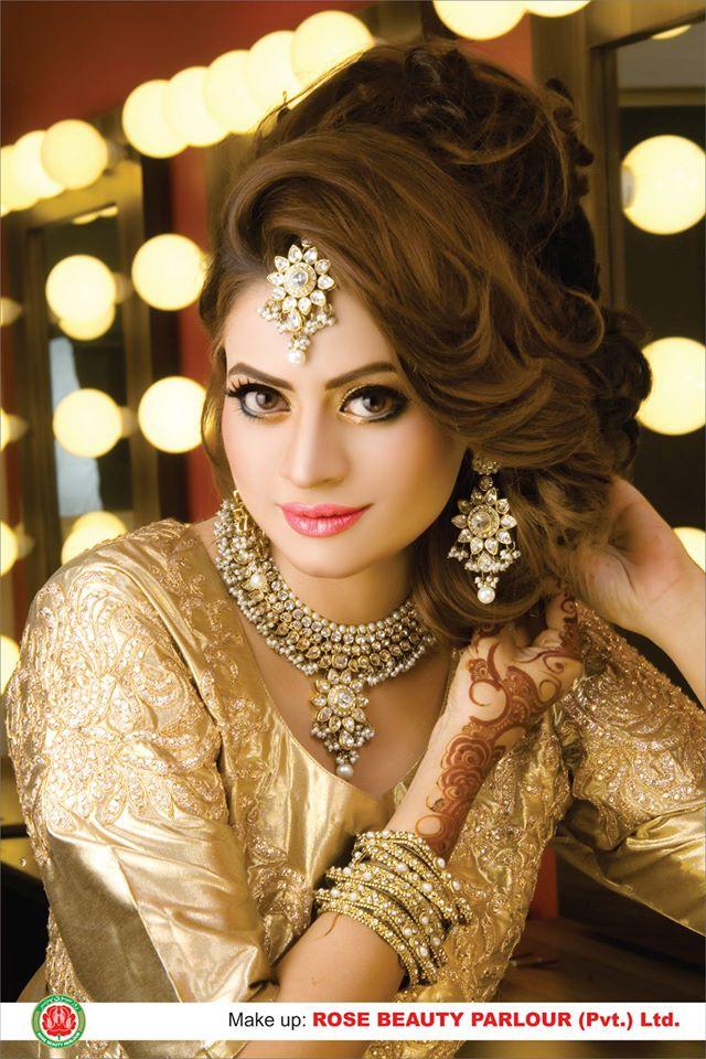 Best Bridal Makeup Parlour : Rose Beauty Parlour Real Bridal Makeover 005