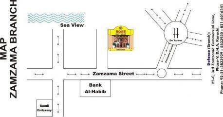 Rose Beauty Parlour Zamzama Branch Map