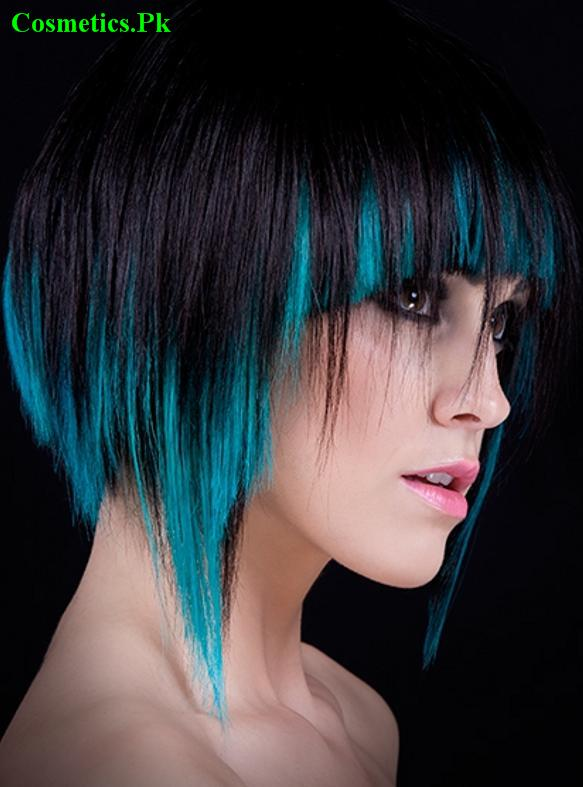 Electric Blue Highlights Black Hair Hair Color Ideas And Styles