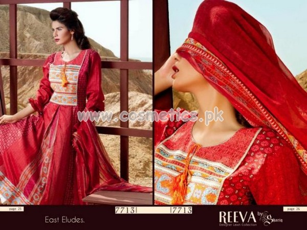 Reeva Lawn Collection For Women 2012 by Shariq Textiles 013