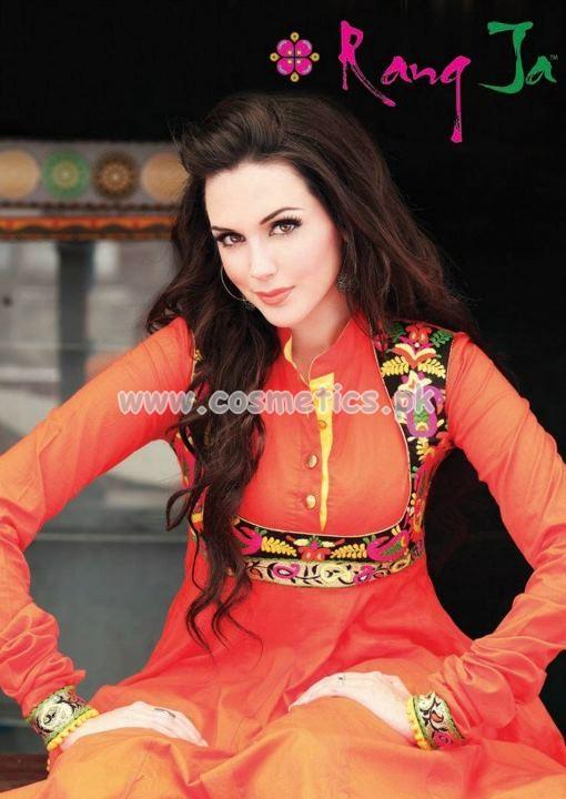 Rang Ja Latest Eid 2012 Designer Dresses For Women 2012 001