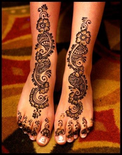 Bridal Mehndi Designs 2012 For Feet