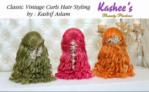 Classic Vintage Curls Hiar Styling By Kashif Aslam 001