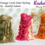 Classic Vintage Curls Hiar Styling By Kashif Aslam 003