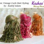 Classic Vintage Curls Hiar Styling By Kashif Aslam 004