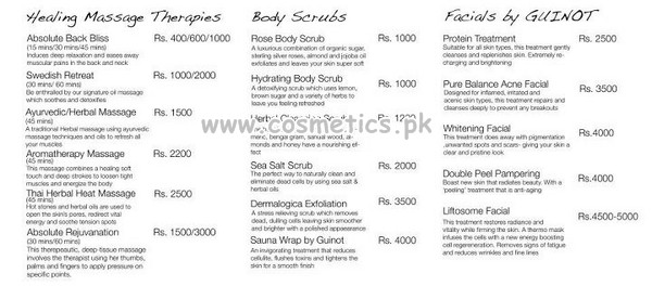 Natasha Salon Healing Massage, Therapies, Body Scrubs, Facials Guinot Charges