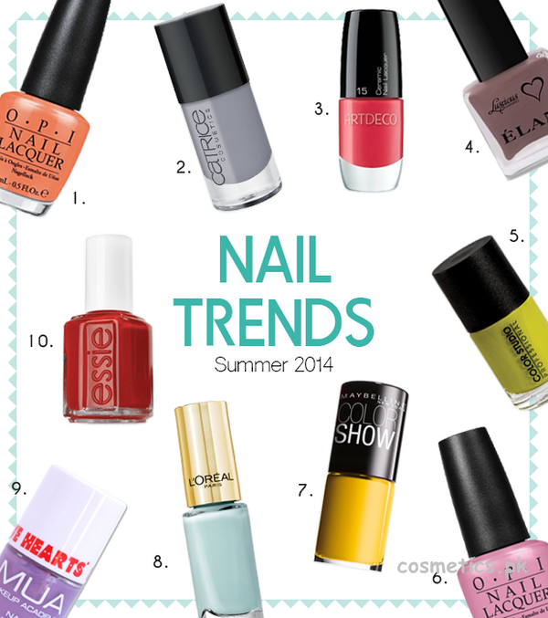 Nail Color Trends 2014 For Summer 1