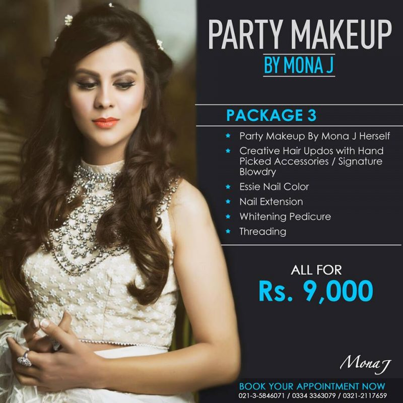 mona j salon spa party makeup package 3