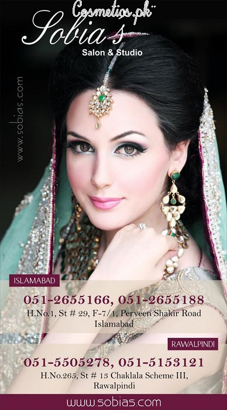 Sobia S Salon And Studio Islamabad: Sobia's Salon And Studio, Services And Makeup Charges