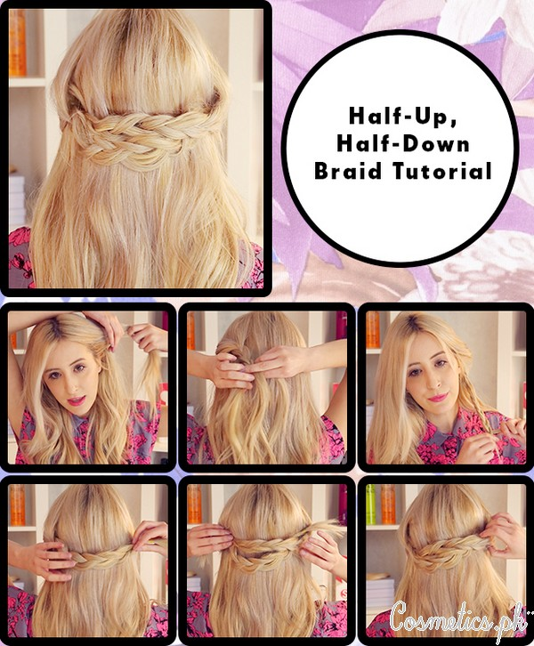 Half Up Half Down Hairstyle With Braids Video Tutorial