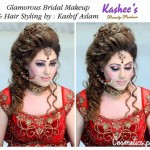 Bridal Mehndi and Hairstyling By Kashee's - Fancy Bridal Hairstyle