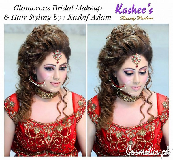 Latest Bridal Hairstyling By Kashee S Beauty Parlour 2015 Fancy