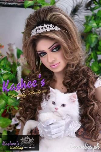 Bridal Mehndi and Hairstyling By Kashee's - Tiara Bridal Hairstyle