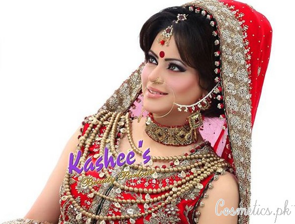 Latest Bridal Hairstyling By Kashees Beauty Parlour 2015 Wedding