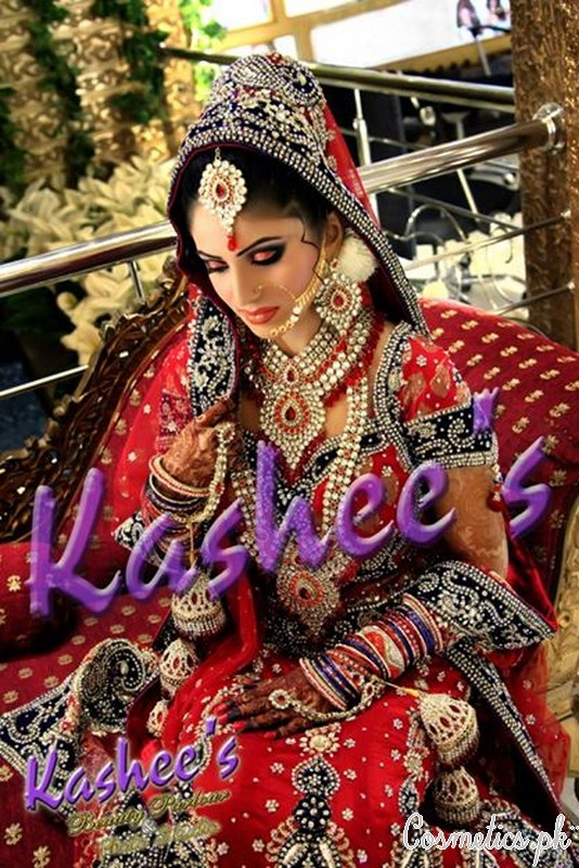 Latest Bridal Makeup by Kashee's Beauty Parlour 2015 - Barat Makeup 6
