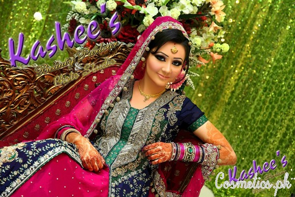 Latest bridal makeup by kashee 39 s beauty parlour 2015 for Asma t salon lahore