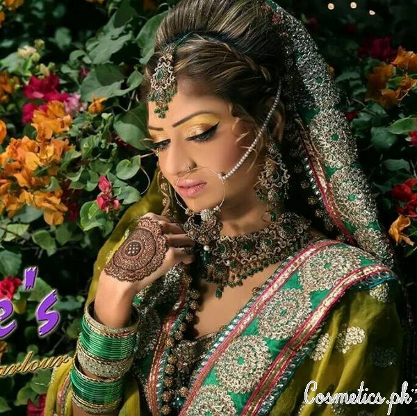 Latest Bridal Makeup by Kashee's Beauty Parlour 2015 - Valima Makeup 1