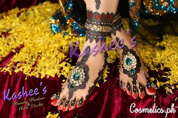 Bridal Mehndi Kashee S : Bridal mehndi by kashee s beauty parlour fancy feet