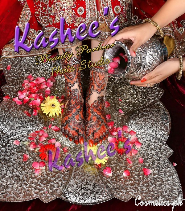 Kashee S Foot Mehndi Designs : Latest bridal mehndi by kashee s beauty parlour red feet