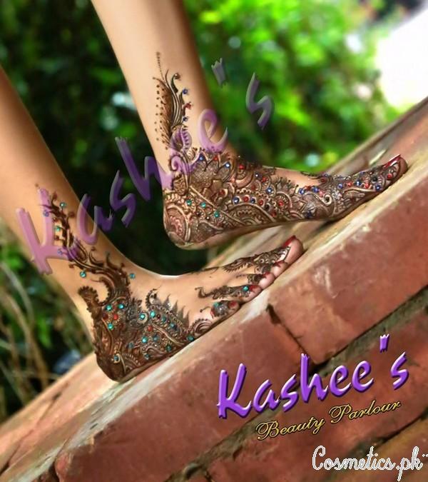 Kashee S Foot Mehndi Designs : Latest bridal mehndi by kashee s beauty parlour feet