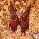 Bridal Mehndi and Hairstyling By Kashee's - Red Hand Mehndi