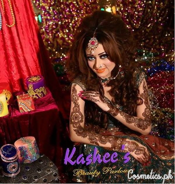 Mehndi Party Makeup : Latest bridal mehndi and hairstyling by kashee s