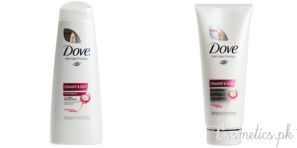 Top 5 Hair Straightening Shampoos In Pakistan - Dove Staright and Silky Shampoo