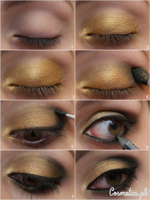Applying Eyeshadow Tutorials: How To Apply Bridal Eye Makeup Correctly :7 Easy Steps