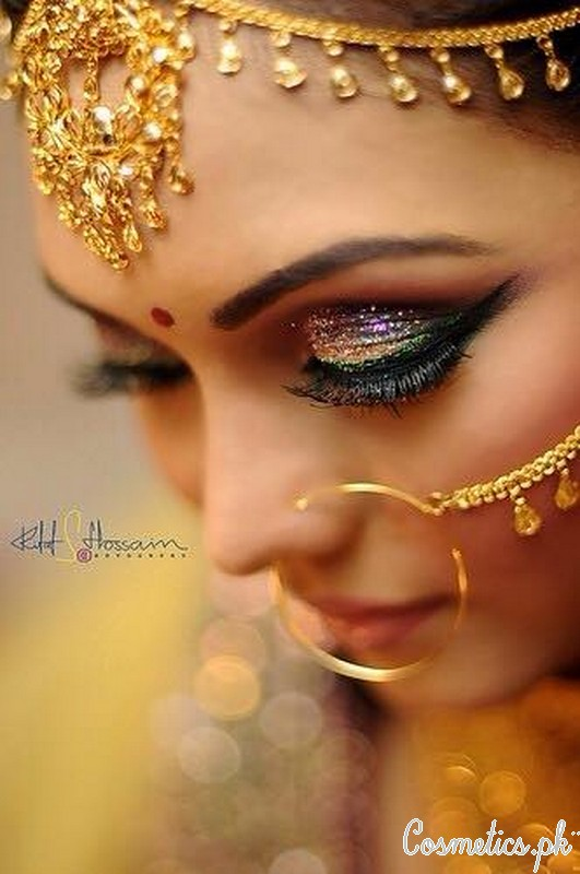 Top 3 Latest Indian Bridal Eye Makeup 2016 Pictures Tutorials