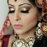 Latest Indian Bridal Eye Makeup 2015 - Golden and Red
