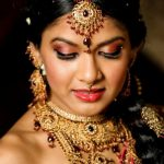 Latest Indian Bridal Eye Makeup 2015 - Red and Smokey