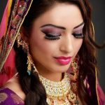Latest Indian Bridal Eye Makeup 2015 - Shimmery Purple