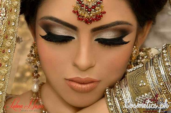 Latest Indian Bridal Eye Makeup 2015 - Smokey
