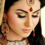 Latest Pakistani Bridal Eye Makeup 2015 - Beige