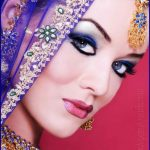 Latest Pakistani Bridal Eye Makeup 2015 - Blue
