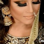 Latest Pakistani Bridal Eye Makeup 2015 - Brown and Smokey
