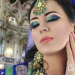 Latest Pakistani Bridal Eye Makeup 2015 - Green and Blue