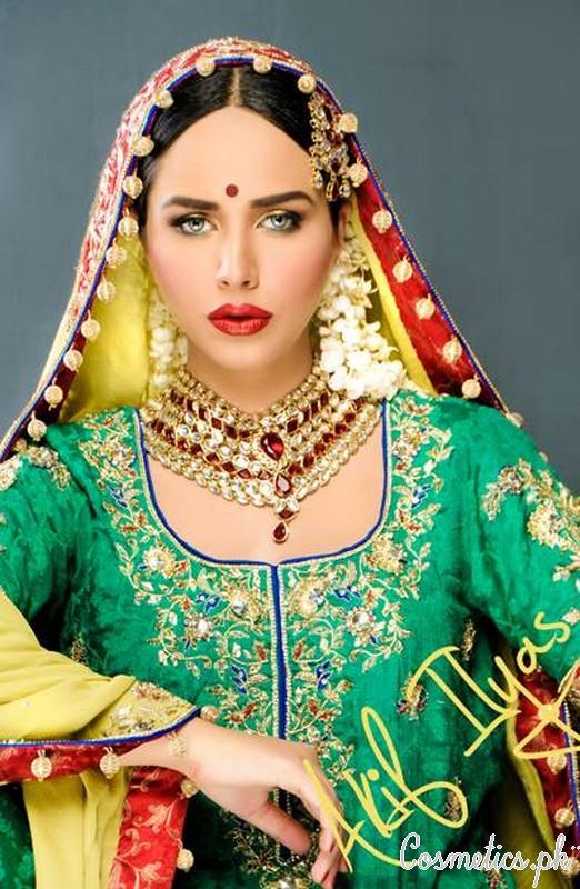 Mehndi Makeup In I : Latest bridal makeup by akif ilyas mehndi