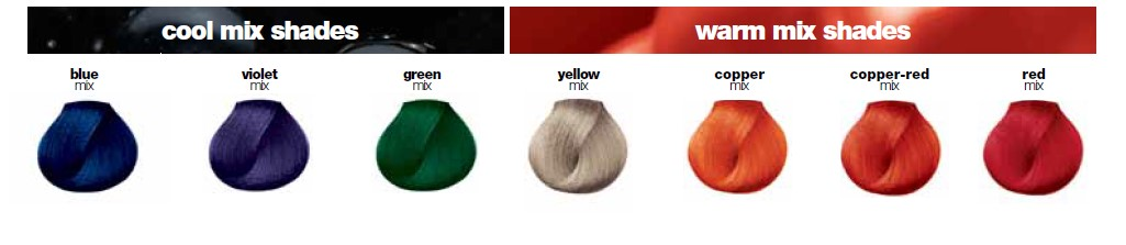 Majirel Hair Colour Shades - Cool Mix And Warm Shades