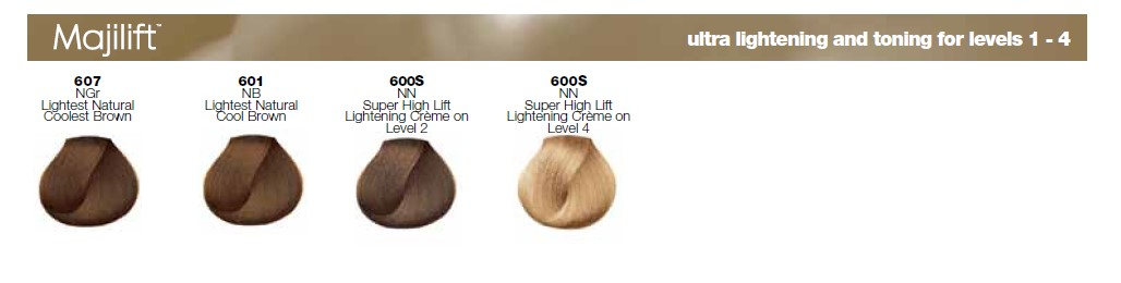 Majirel Hair Colour Shades - Majilift