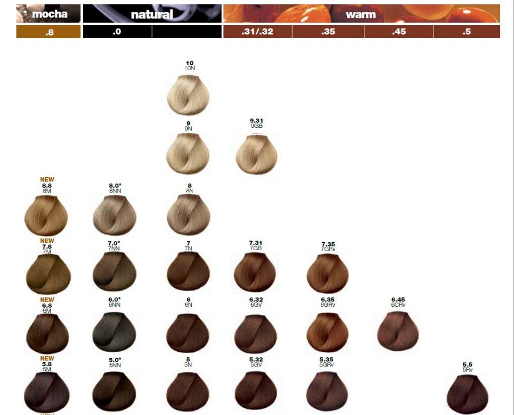 Hair Color Chart Loreal Majirel Fq Beloq