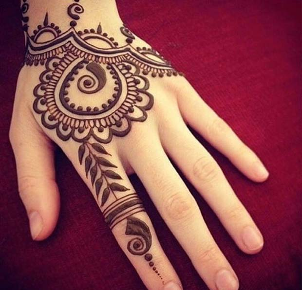 30 Simple Henna Designs For Beginners 003