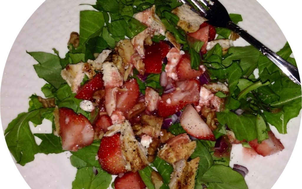 Strawberry salad for weight loss diet plan