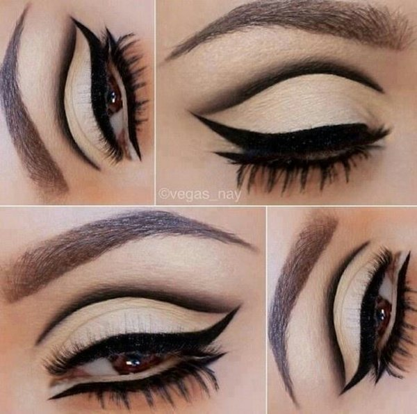 Top 10 Eyeliner Styles For Small And Big Eyes-60's Eyeliner Styles