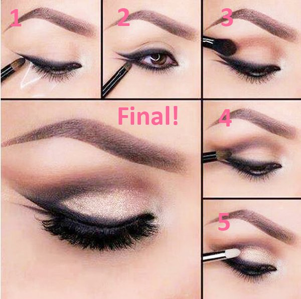 Top 10 Eyeliner Styles For Small And Big Eyes-Fishtail Eyeliner Styles
