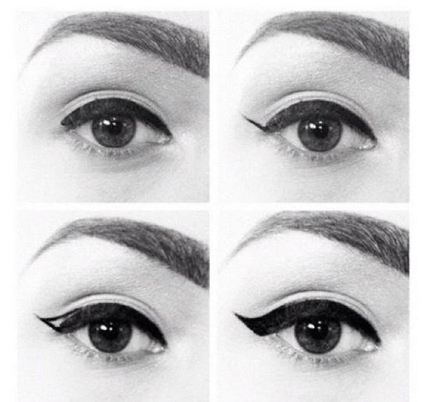 Top 10 Eyeliner Styles For Small And Big Eyes-Flick Eyeliner Styles