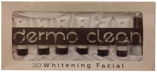 derma clean 3d whitening facial kit
