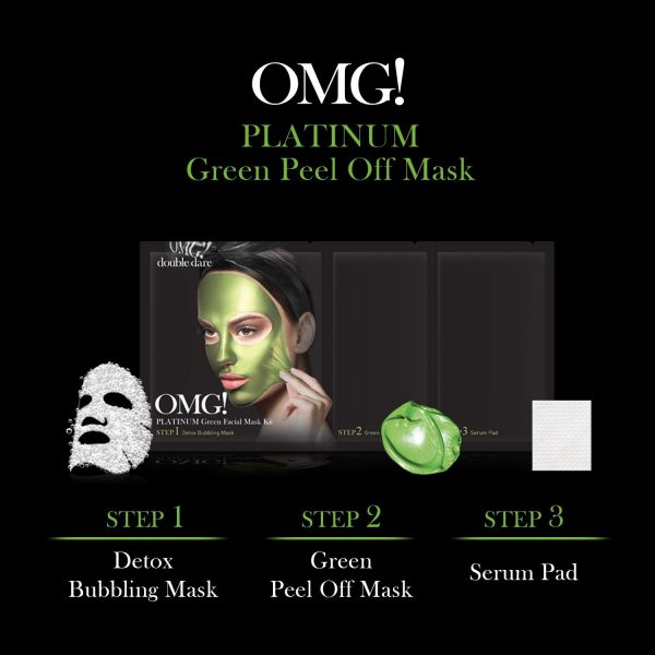 Double Dare OMG! Platinum Green Facial Mask Kit gallery
