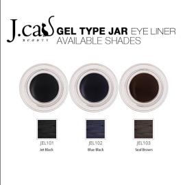 J CAT FANTABULOUS JAR EYE LINER – Jet Black